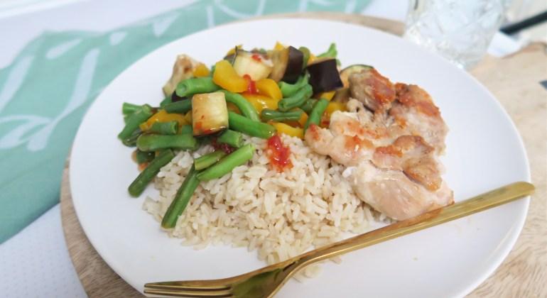Kipdijfilet rijst groenten