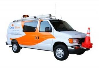 company logos Canby Telcom fleet graphics