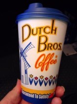 local branding on a cup