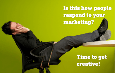 Creative marketing concepts are visual and verbal