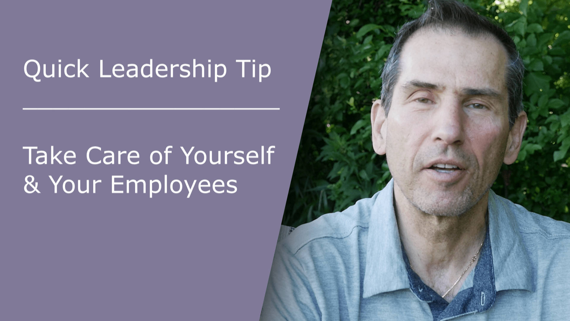 Take Care Of Yourself Amp Your Employees