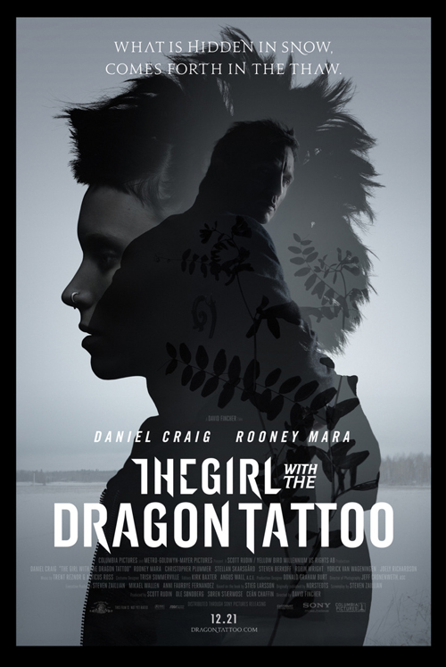 Girl with the Dragon Tattoo Poster, Daniel Craig, Rooney Mara
