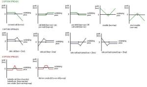 Option strategy payoff diagrams, exchange rate south