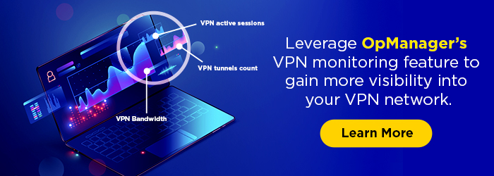 A hawk-eyed inspection of your VPN connections: VPN monitoring by OpManager