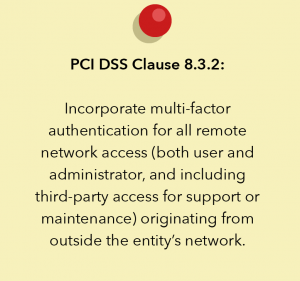 PCI DSS Clause 8.3.2