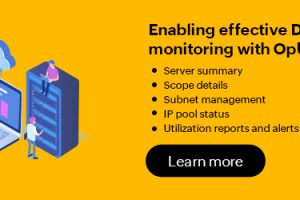 DHCP server monitoring made easy with OpUtils
