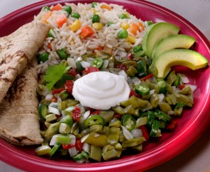 Nopalitos with Rice and Avocado