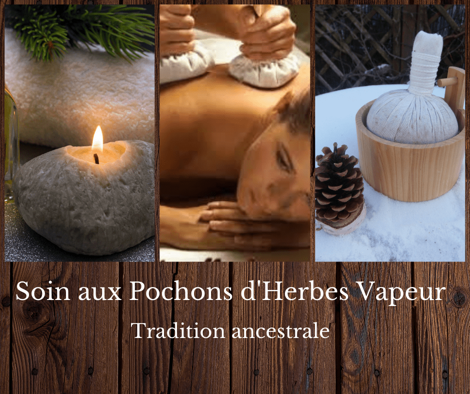 Soin pochons d'herbes vapeur tradition