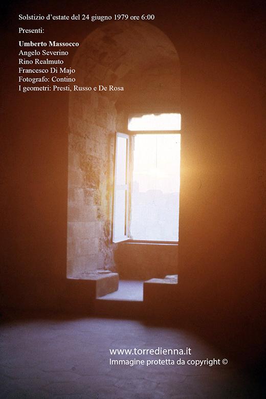 Solstizio d'estate 1979 - Torre ottagonale Enna