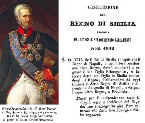 Ferdinando il Borbone. La vigliaccata contro la Sicilia
