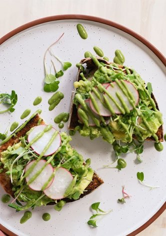 Vegan Green Goddess Avocado Toast