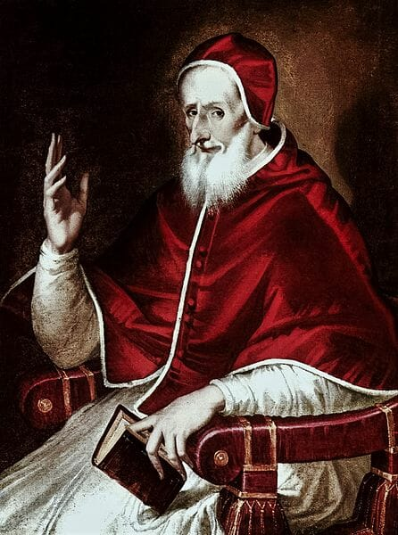 Papa Pio v, pintado por el greco