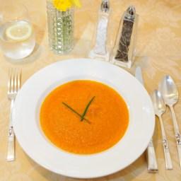 Carrot Soup With Ginger & Lemon