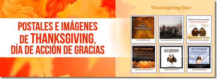 Postales e imágenes de Thanksgiving day, el día de acción de gracias.