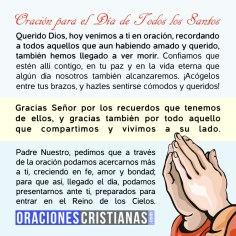 Oración para el Día de Todos los Santos