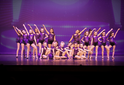 children posing after dance recital