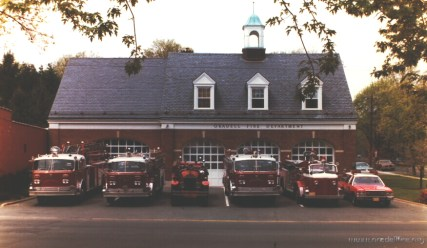 1980 - Apparatus in front of HQ