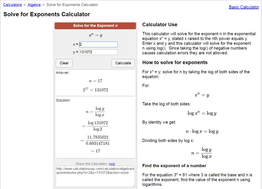 exponent-calculator