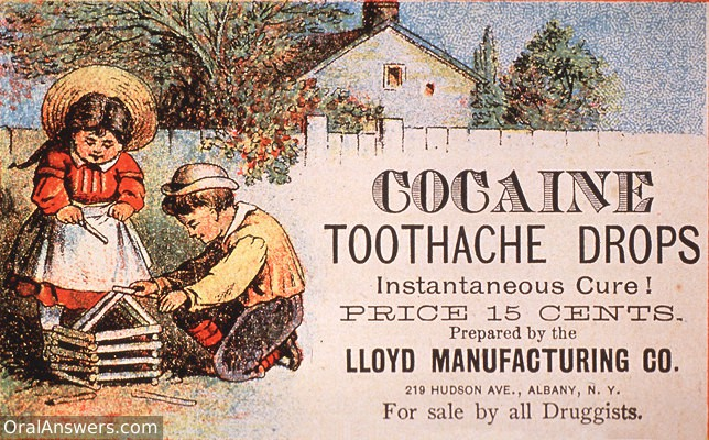 Cocaine Teething and Toothache Drops - Dental History