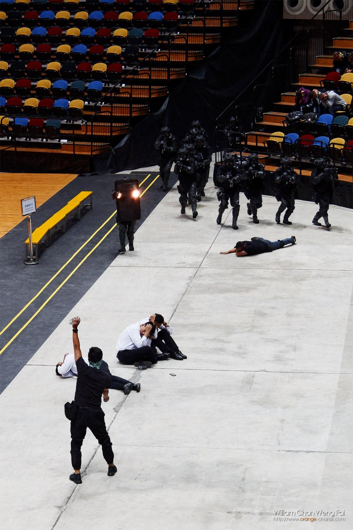 模擬在一個大型運動場館有恐怖份子襲擊