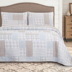 plaid-غطاء-سرير-مزدوج-3-قطع