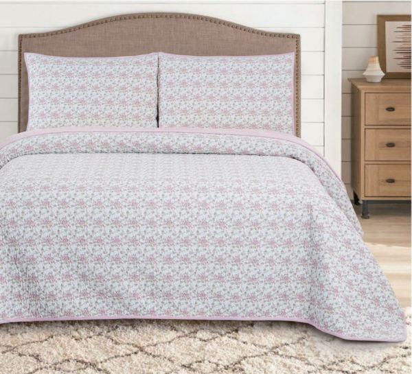 pink-rose-غطاء-سرير-مزدوج-3-قطع