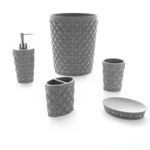 lusso-grey-طقم-اكسسوار-حمام-5-قطع