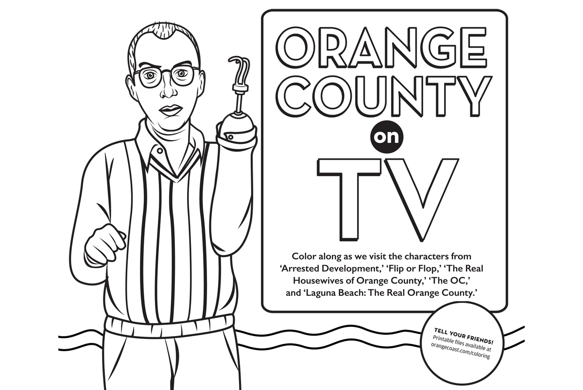 orange county on tv coloring contest orange coast