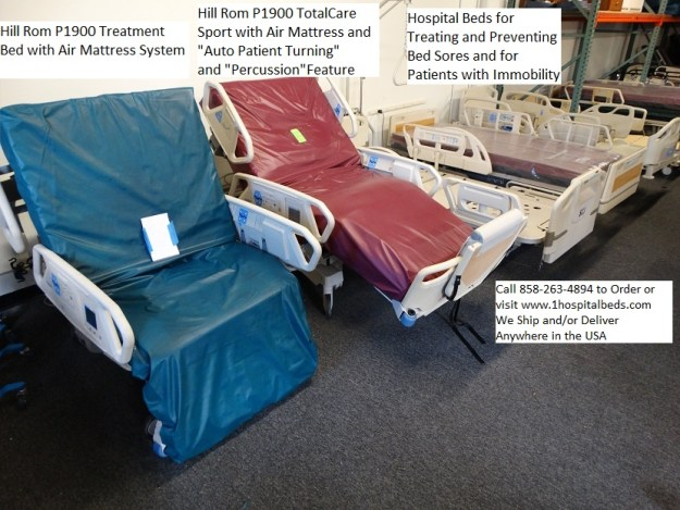 Hospital Beds made to treat and prevent bed sores and skin ulcers Hill Rom P1900 TotalCare bed models