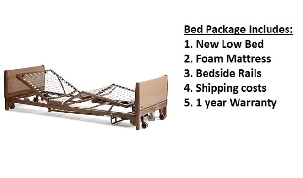 Invacare low hospital bed package