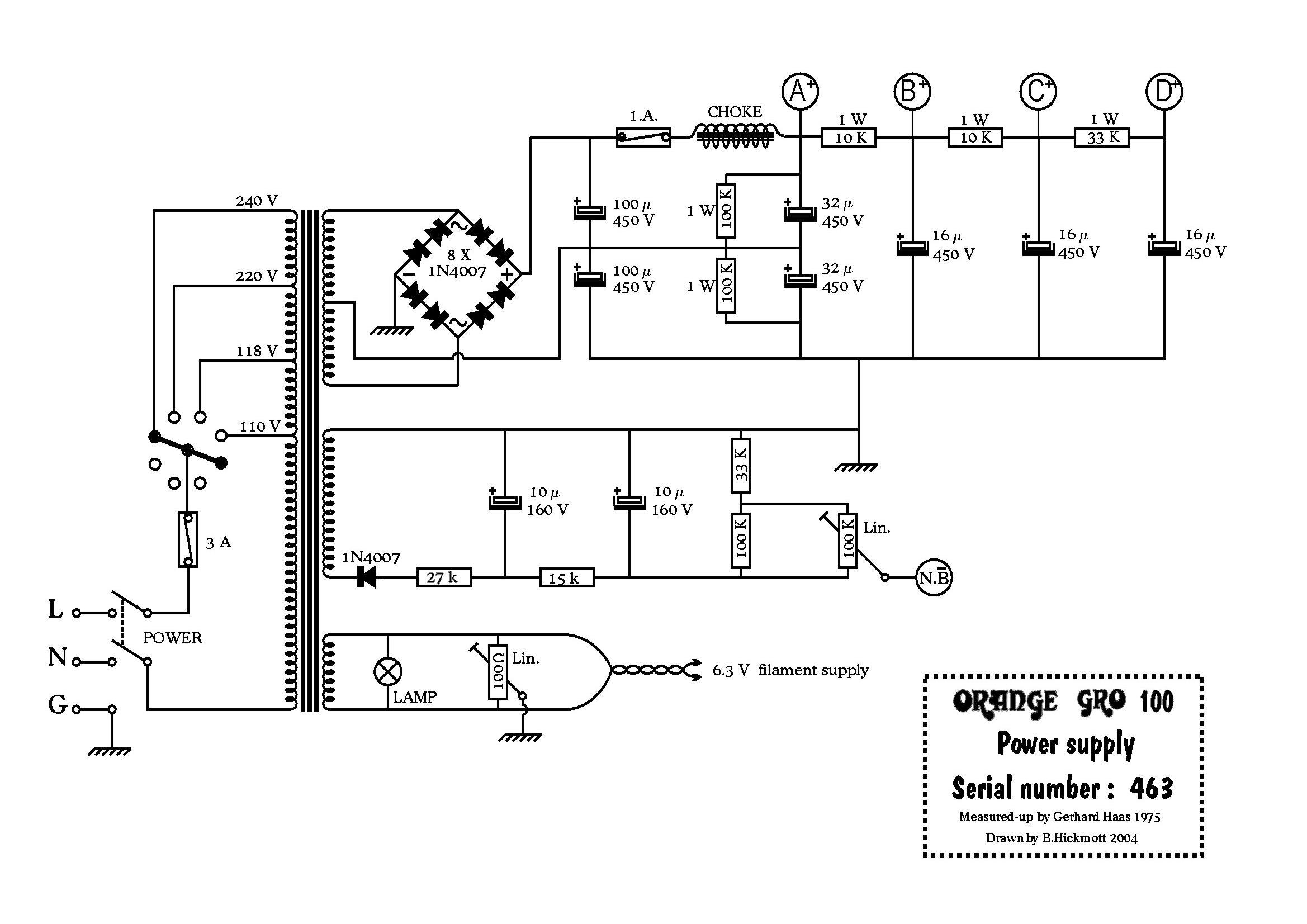 Gro100 Power Supply