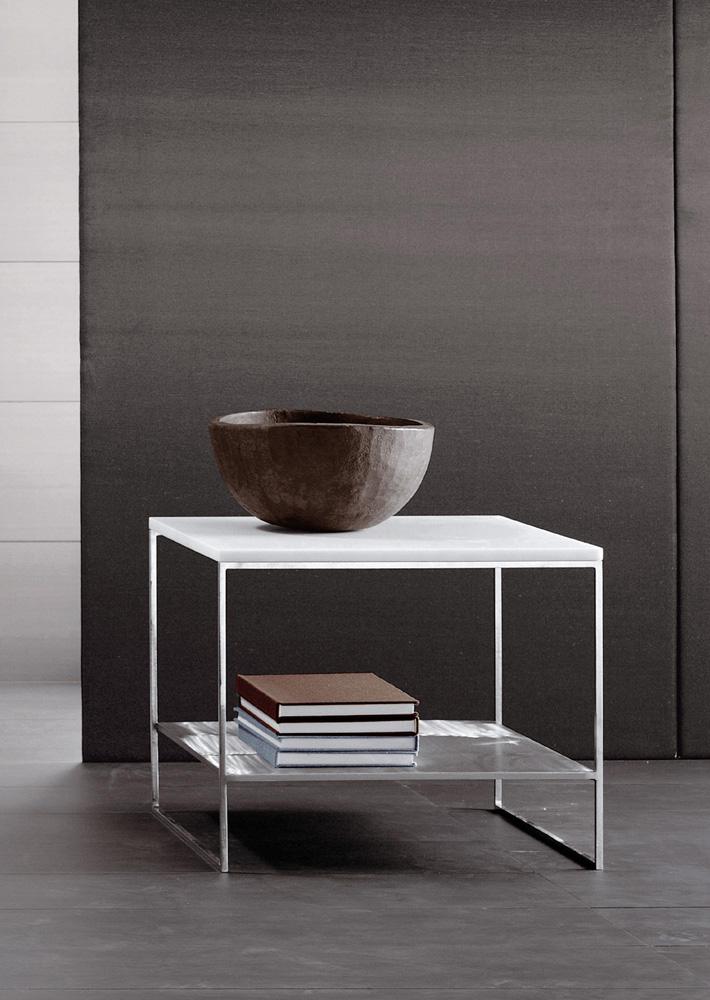Calder Side Table Designed By Rodolfo Dordoni Minotti Orange Skin