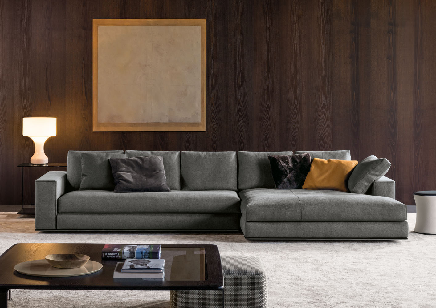 And Sofa Leather Chaise