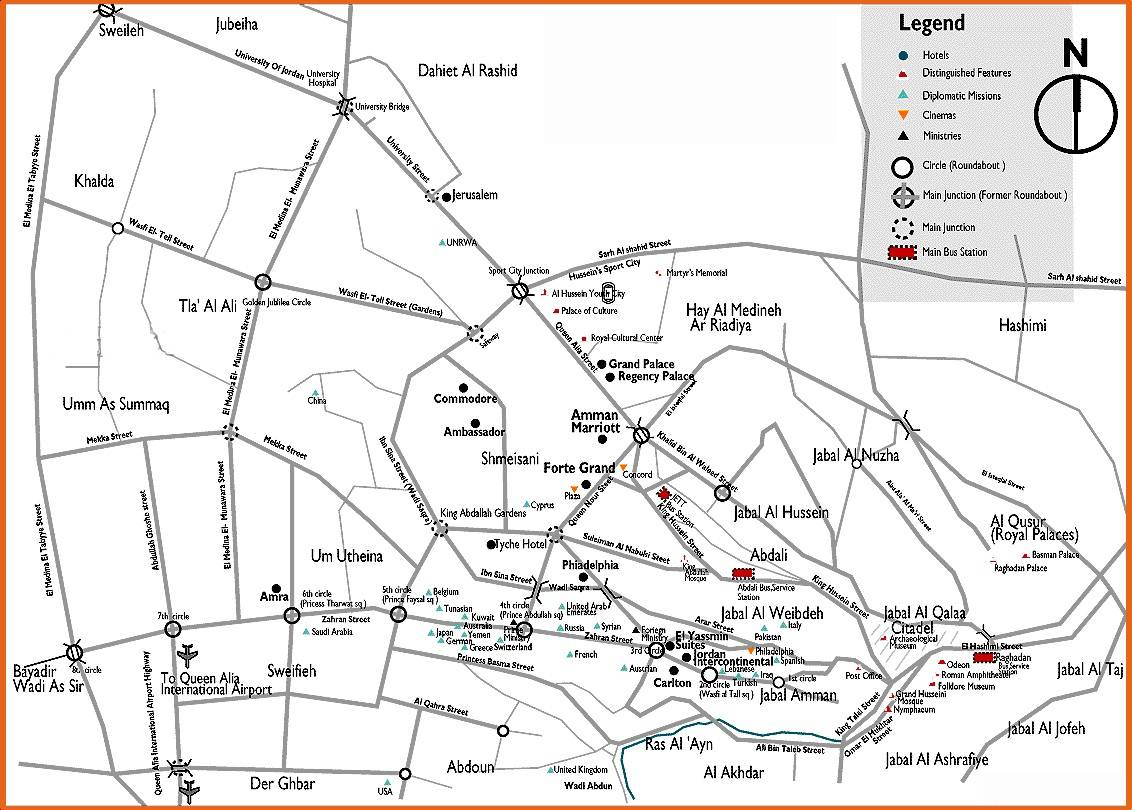 Large Amman Maps For Free Download And Print