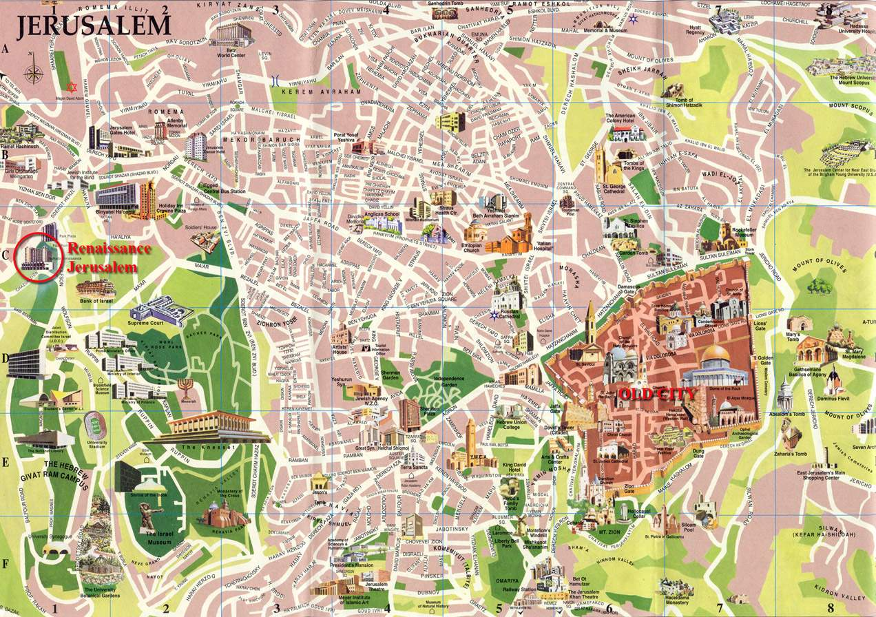 Large Jerusalem Maps For Free Download And Print