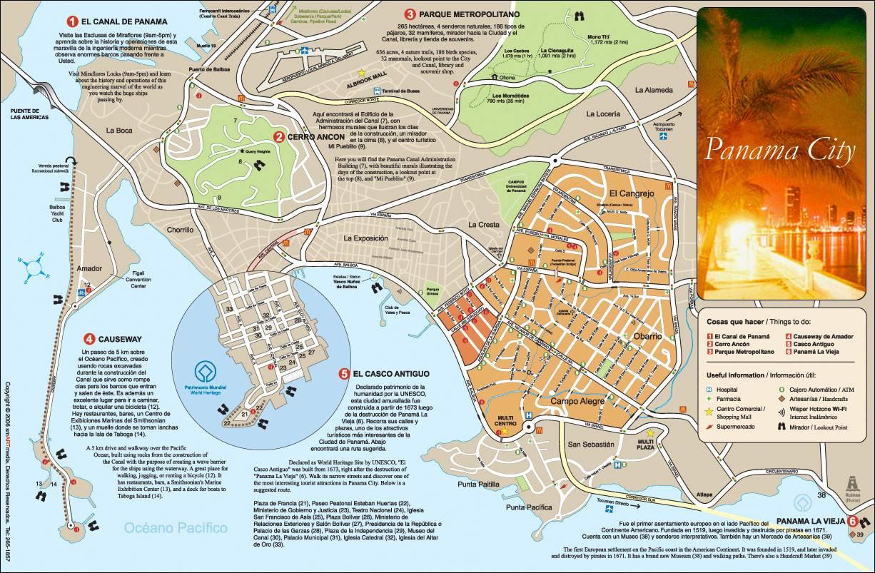 Panama City Carte Voyages