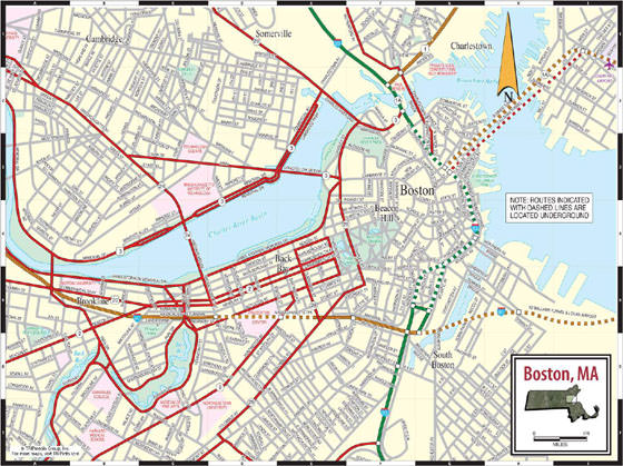 Boston Subway Map for Download   Metro in Boston   High Resolution     Boston map 3