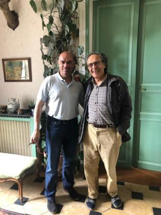 Nicolas Joly con el autor