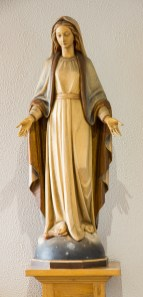 Stature of Holy Mary inside Oranmore Church