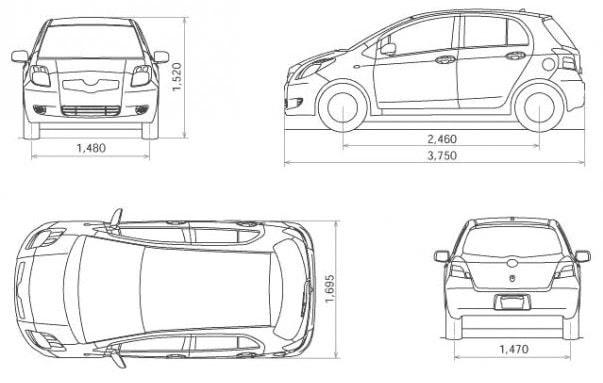 Ukuran Mobil di Indonesia
