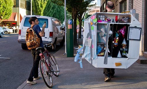 Michael Reinsch. Gallery Walk Time-Based Art Festival, PICA Photo by Tony Box Courtesy of Portland Institute for Contemporary Art.