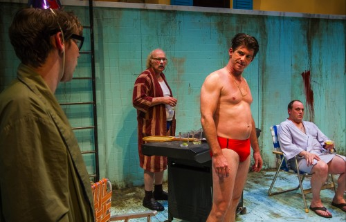 "Chris Murray, Bruce Burkhartsmeier, Michael O'Connell and Tim True in  ""Penelope"" /Owen Carey"