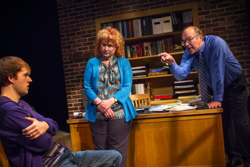 "Rolland Walsh, left, Rosalyn Davies and Bruce Burkhartsmeier star in Susan Mach's ""A Noble Failure.""/Owen Carey"