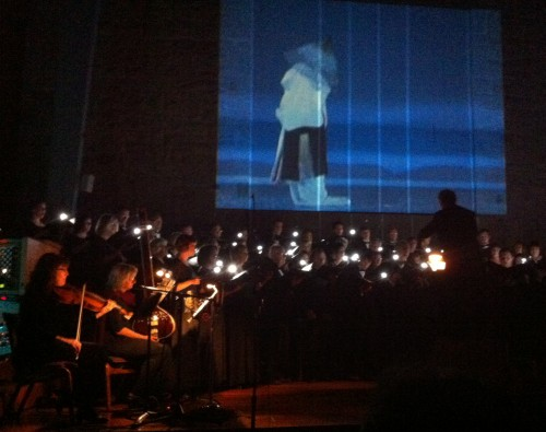 Beaverton's iSing chorus used video in its winter concert.