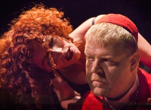Kretzu directed (I Am Not) The Duchess of Malfi) with Todd van Voris and Camille Cettina./Owen Carey