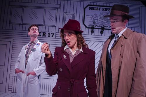 "Joshua Weinstein, Val Landrum and Leif Norby in ""Red Herring""/Owen Carey"