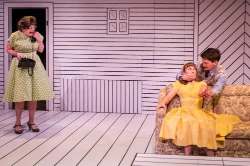"Vana O'Brien, Amy Newman and Joshua Weinstein in ""Red Herring""/Owen Carey"