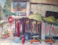 Quin Sweetman's rendering of a Northwest Portland Taqueria practically channels Van Gogh.