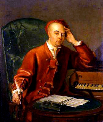 Philip Mercier, portrait of Handel, date unknown, Handel House Museum, London. Wikimedia Commons.