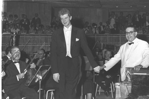 American pianist Van Cliburn at the peak of his fame in the early 1960s.